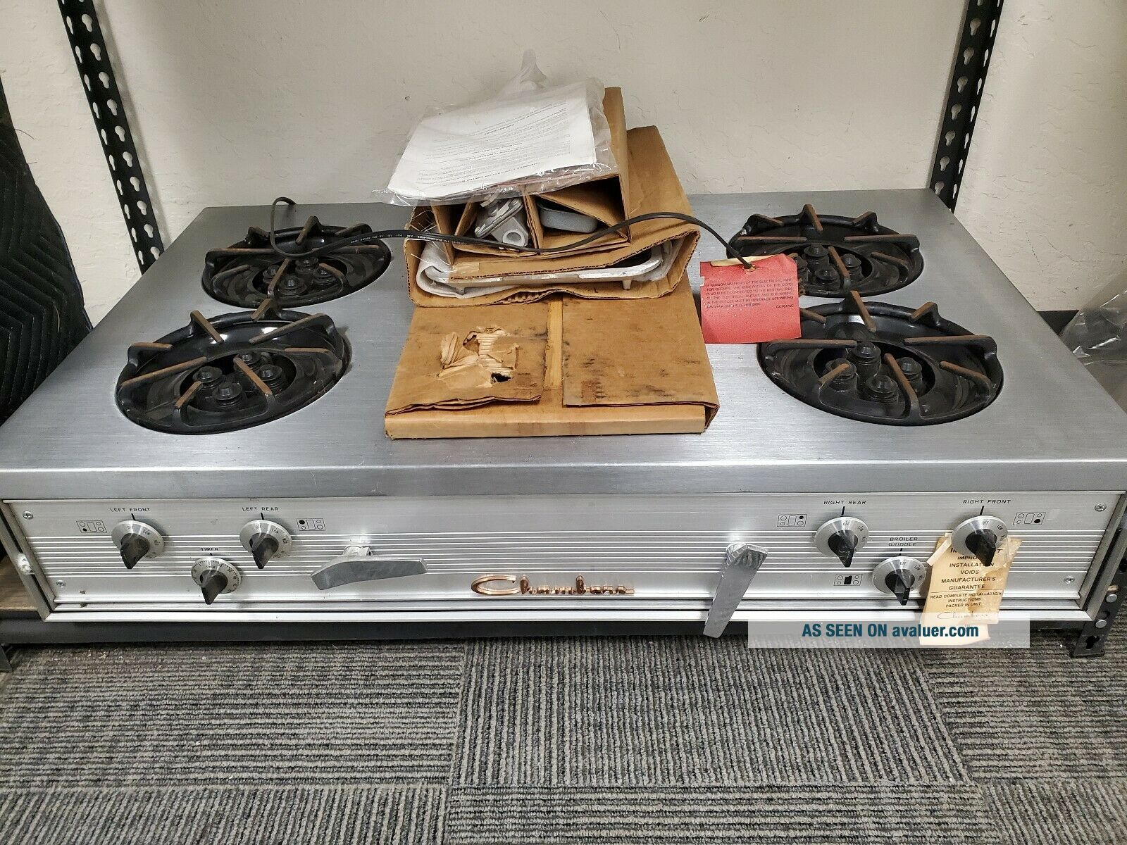 Chambers Vintage Gas Cooktop -