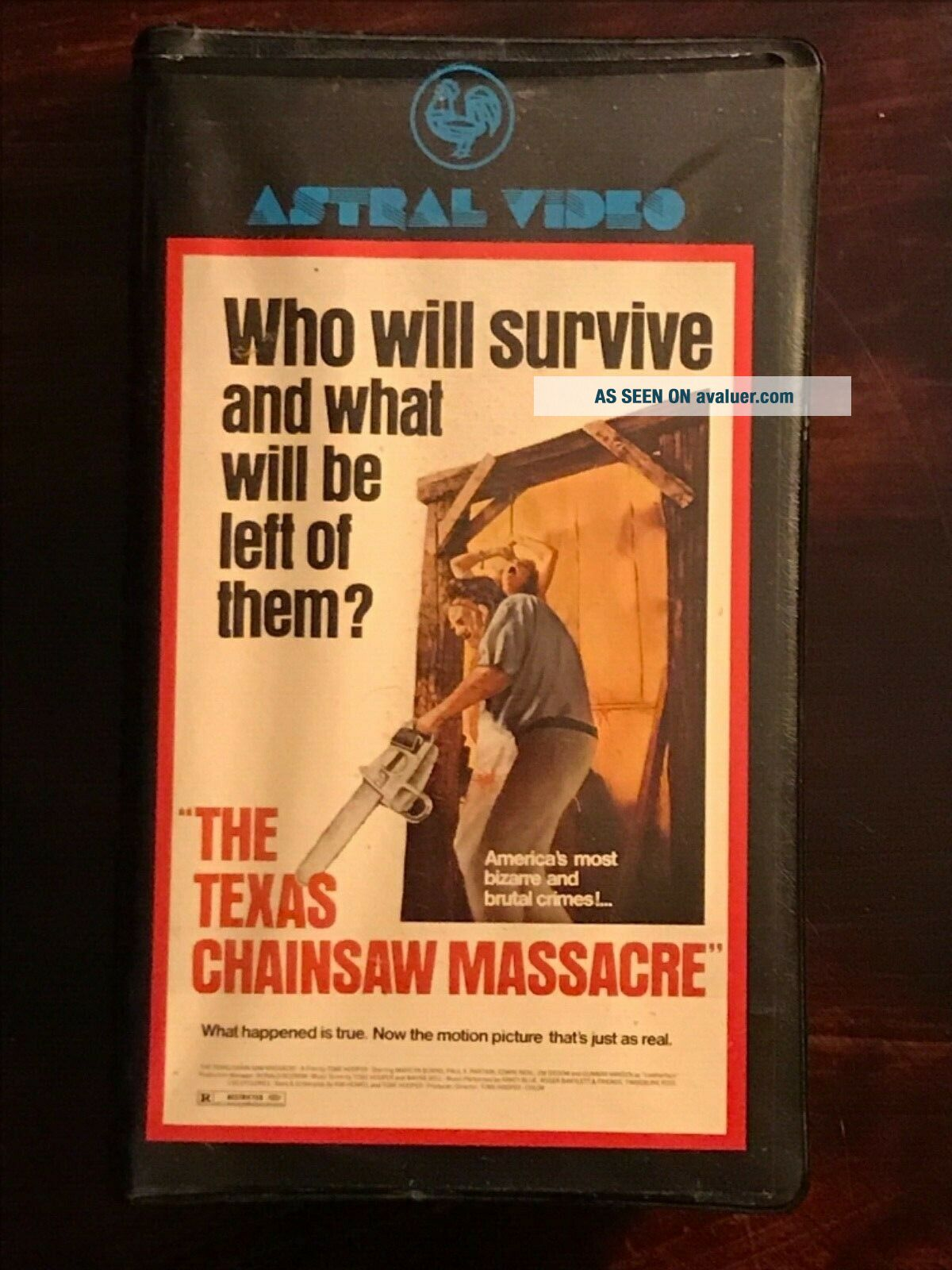 The Texas Chainsaw Massacre VHS Astral Video Rare Horror Big Clamshell Box HTF