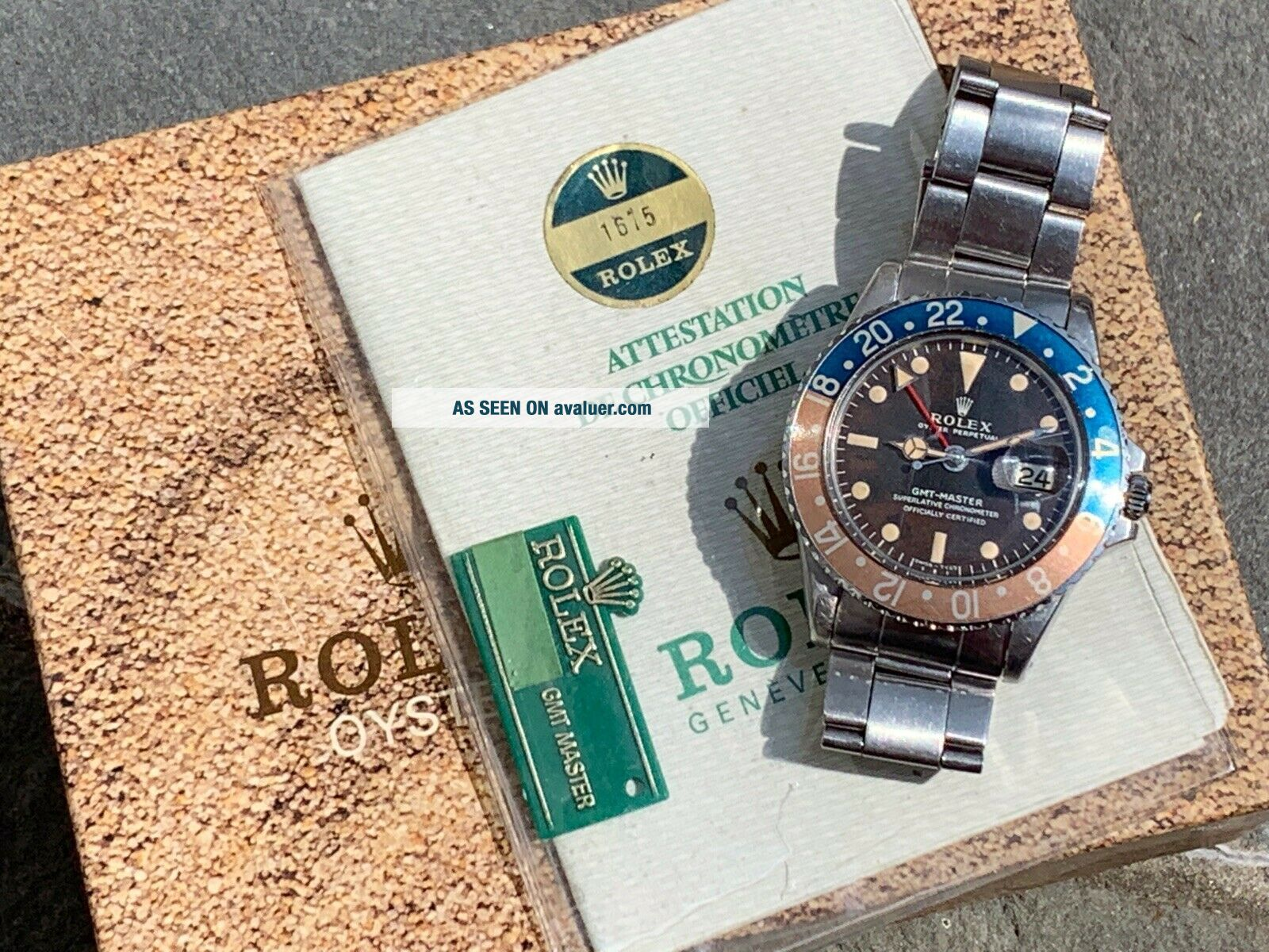 Vintage Rolex 1675 GMT Master TROPICAL DIAL Box and Papers