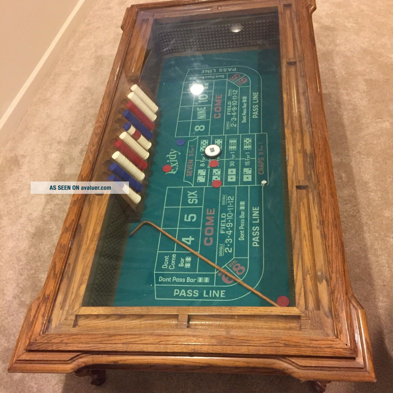 Vintage Coffee Table/Craps Table By Exidy