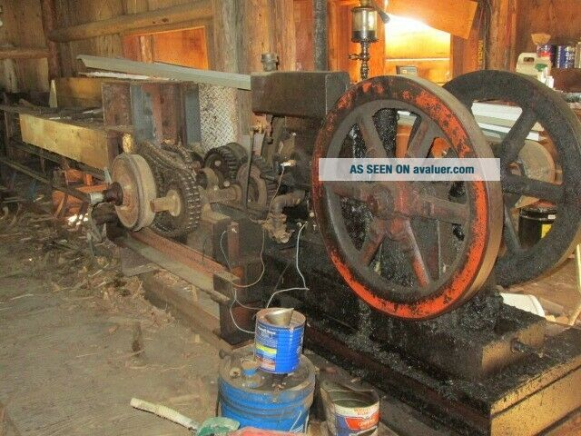 Antique Hit and Miss Motors/ saw mill equipment for split rail fence build