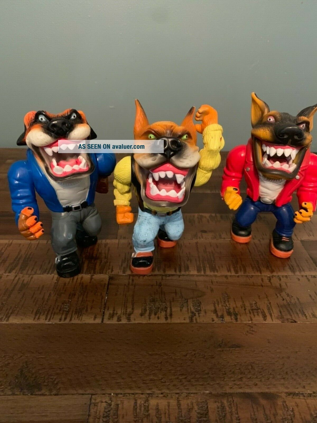 Muscle Mutts extremely rare like street sharks action figure retro vintage toy