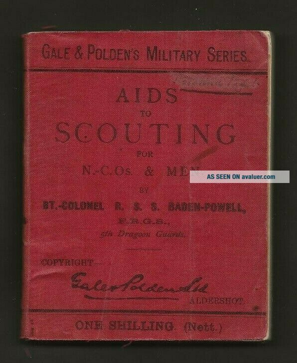 1899 - Boy Scout Book - Aids to Scouting - Baden Powell - 1st Edition - RARE