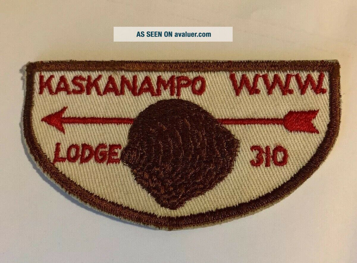 Vintage Boy Scout Patch Kaskanampo Lidge 310 W.  W.  W.  BSA