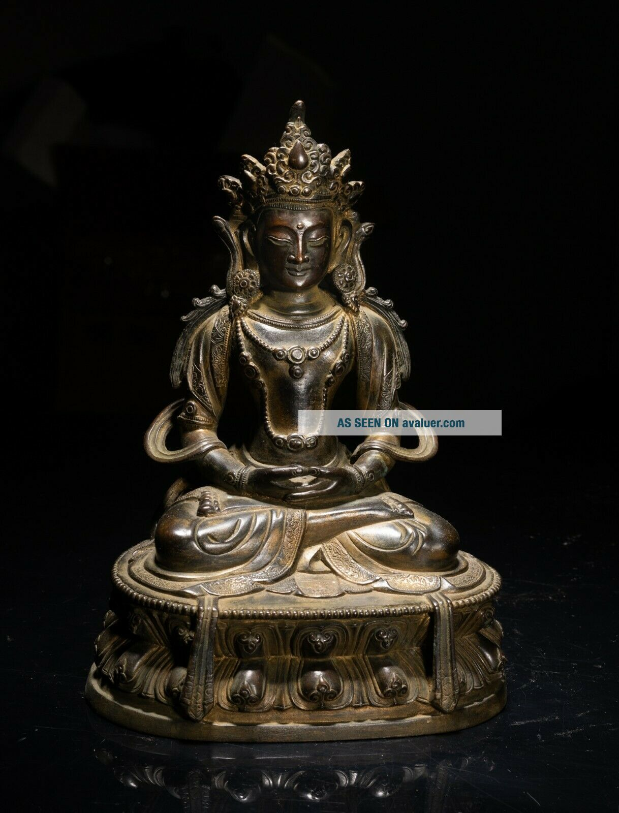 Chinese Tibetan Antique Bronze Buddha