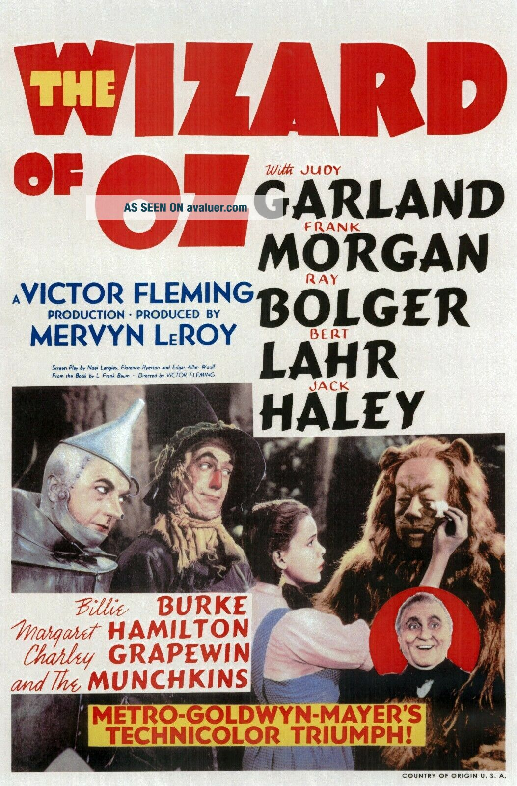 16mm The WIZARD of OZ Feature Movie Vintage 1939 Film Judy Garland