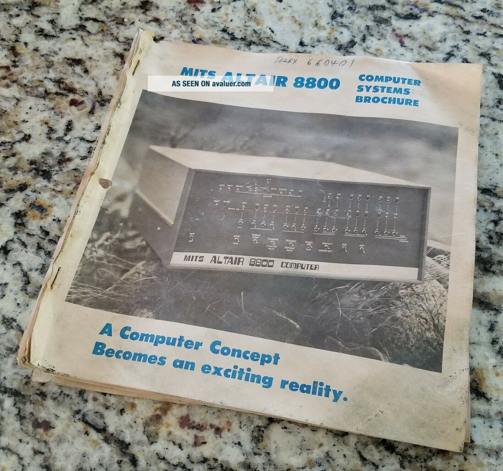 WOW MITS Altair 8800 Computer Systems Brochure 1974 - S100 vintage