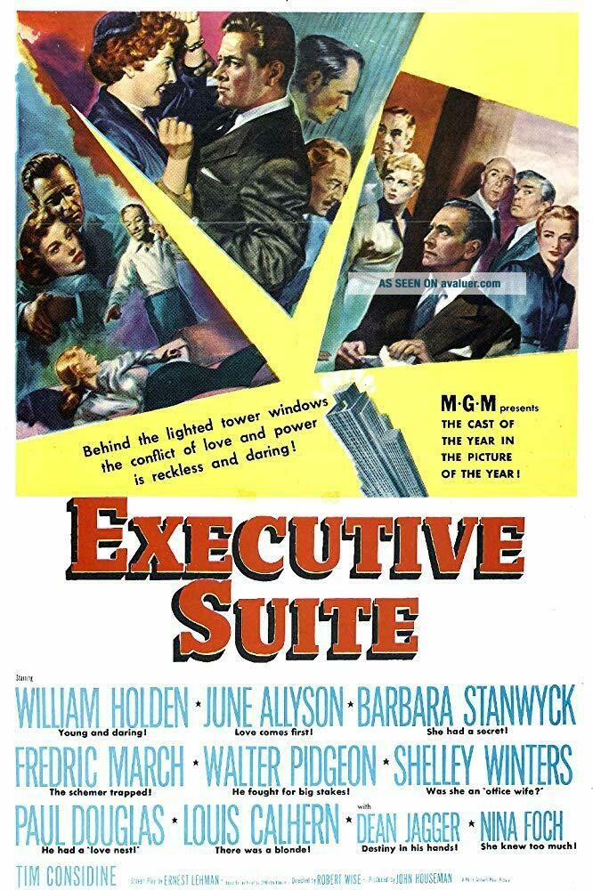 RARE 16mm Feature: EXECUTIVE SUITE (WILLIAM HOLDEN / BARBARA STANWYCK)
