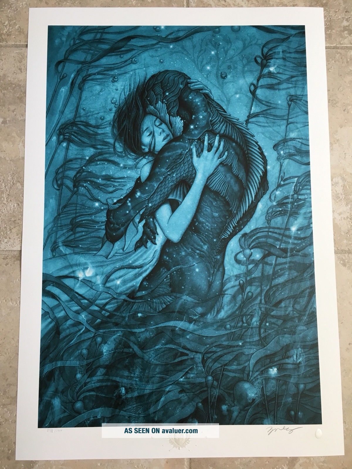 The Shape of Water Guillermo del Toro Movie Art Fabric Poster 24x36 A230