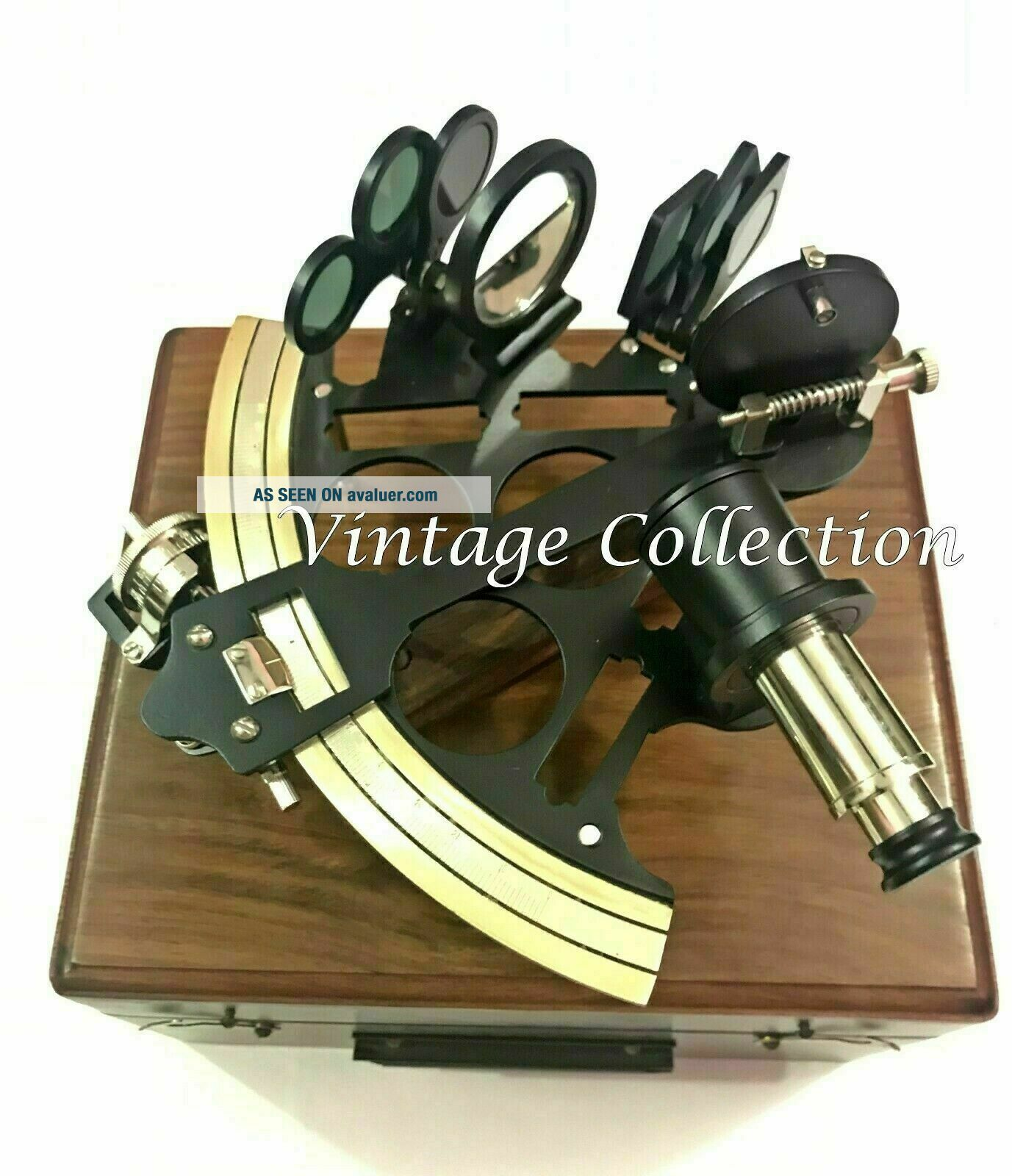 VINTAGE SOLID BRASS NAUTICAL SHIP INSTRUMENT ASTROLABE MARINE SEXTANT