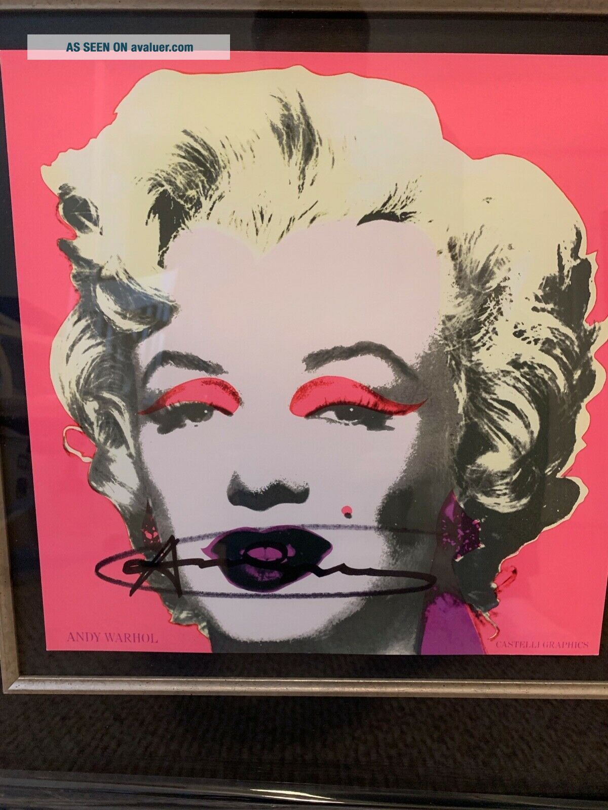 Signed Andy Warhol